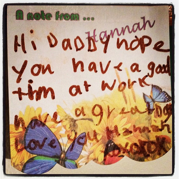 A Note From Hannah! ......From a few years ago.