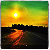 Sunset on Golden Route 2. #miltonvt #vt #btv