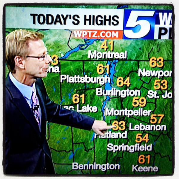 Awesome weather in #btv #vt today! @TomMessner @wptz