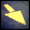 Follow me, this way! #sign #arrow #yellow #abstract