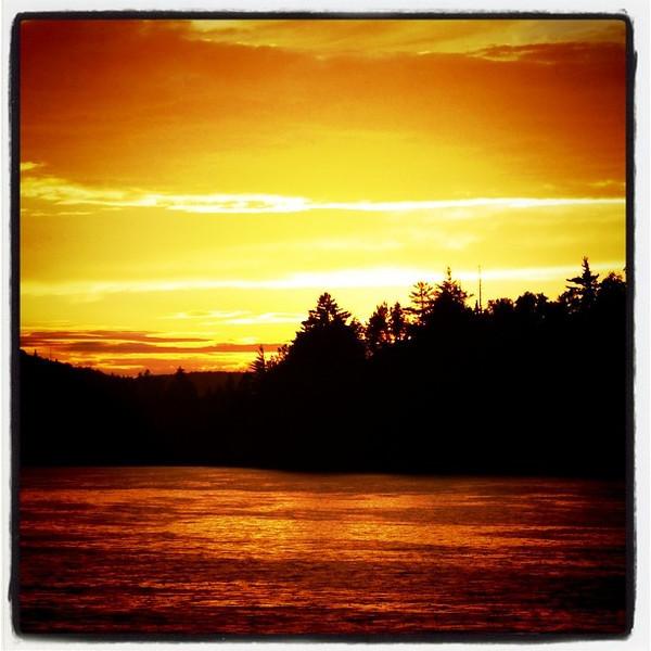Sunset at the lake. #landscape #sunset #golden #lake #scenery #awesome
