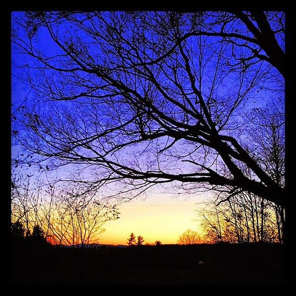 Framed Sunset. #btv #milton #vt