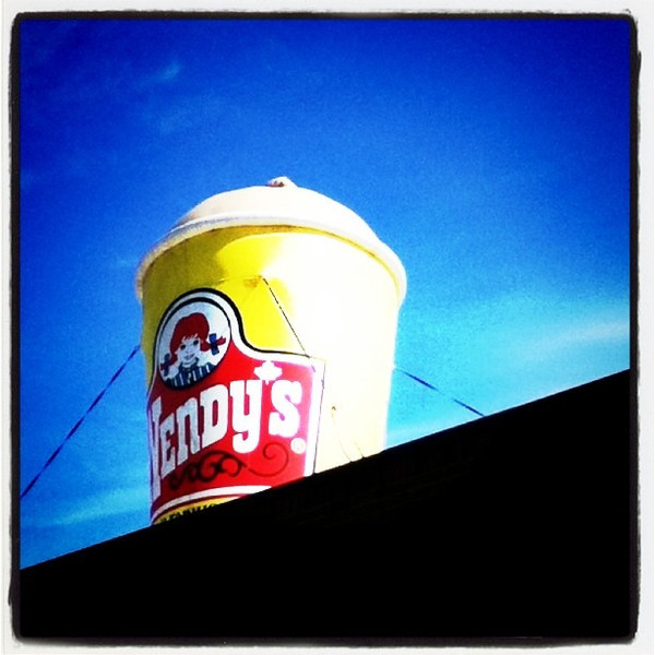Super sized! #fast-food #Wendy's #marketing #canada