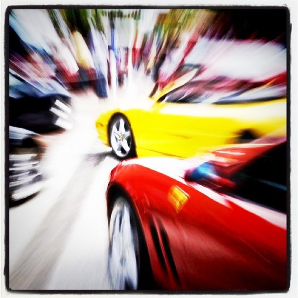 Some zoom action. This was all done in camera and not Photoshop. #btv #VT #cars #Ferrari #zoom #eyecandy #awesome