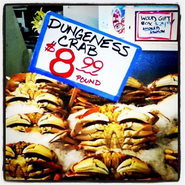 Deadliest catch! #seattle #pikesplace #crab #food