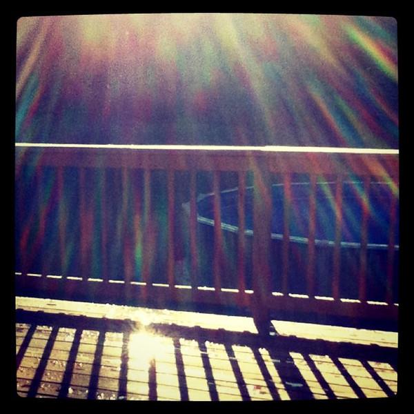 Shower of sun rays. #milton #vt #silhouette #sunrise
