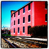 Living by the tracks. #btv #VT #building #architecture #tracks
