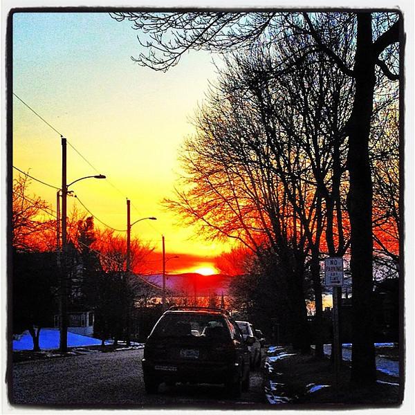 Downtown Sunset. #btv #vt