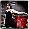 Dumpster as a prop for a #model shoot. #woman #sexy #girl #female #hotstuff