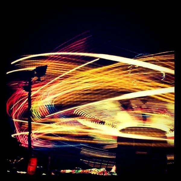 Slow Shutter Spinner at the Fair. #btv #vt