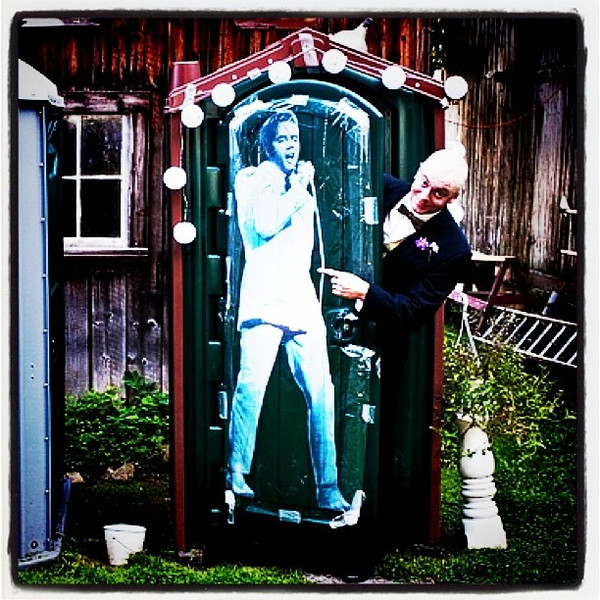 Elvis has left the building! #wedding #groom #btv #vt