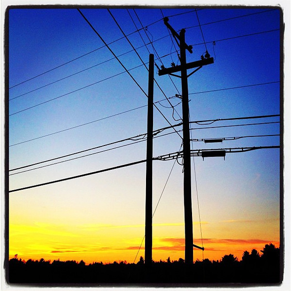 Beyond The Poles and Wires, There is Beauty! #miltonvt #vt
