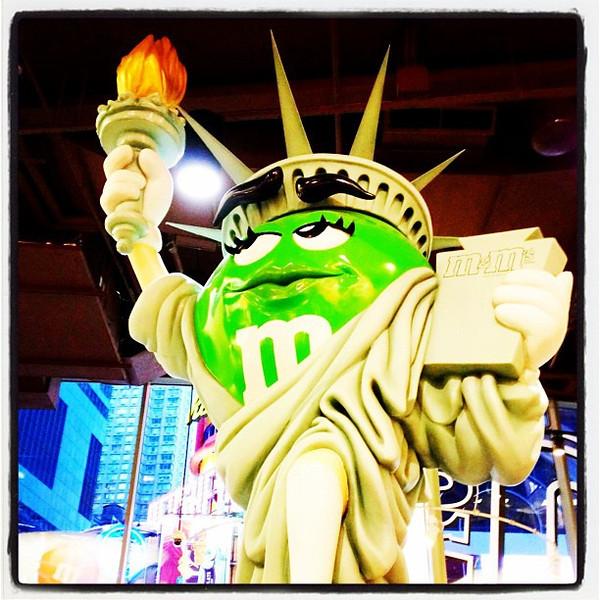 Lady Liberty of M&M World! #nyc #chocolate