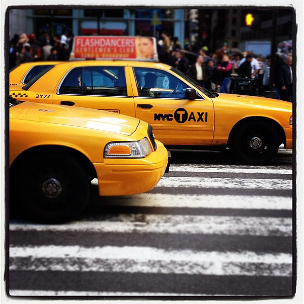 T-A-X-I. Have yellow will travel. #nyc