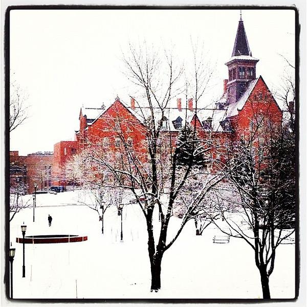 Vermont looks pretty in white. #btv #vt