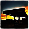 Lovely Place to Gas Up! #miltonvt #sunset #silhouette