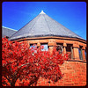Red leaves for red bricks! #foliage #btv #uvm #vt