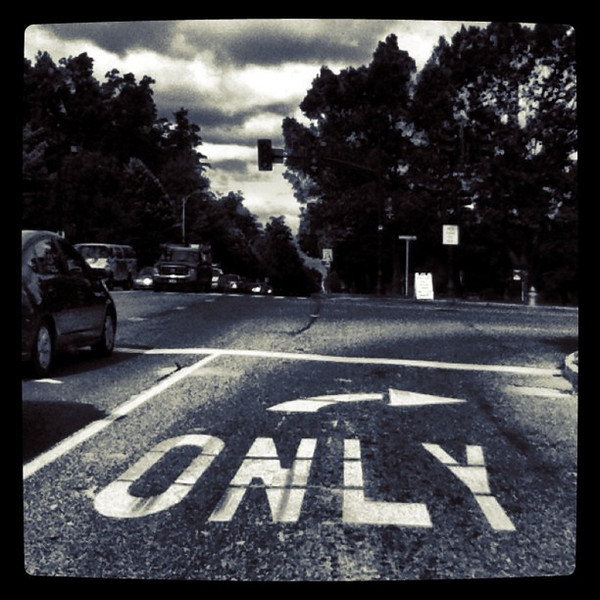 ONLY this way! -> #sign #road #btv