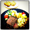 Roast beef and veges for lunch. #Microsoft #Redmond #tech #food #beef