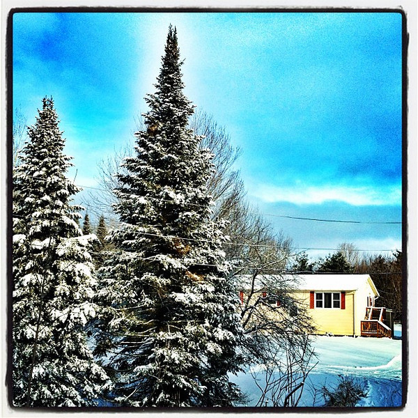 Little House on the Winter Prairie. #milton #vt