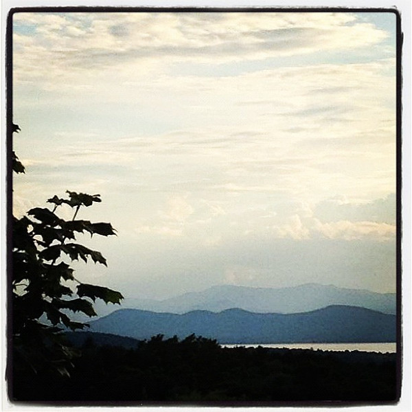 New York State as seen from #Vermont.