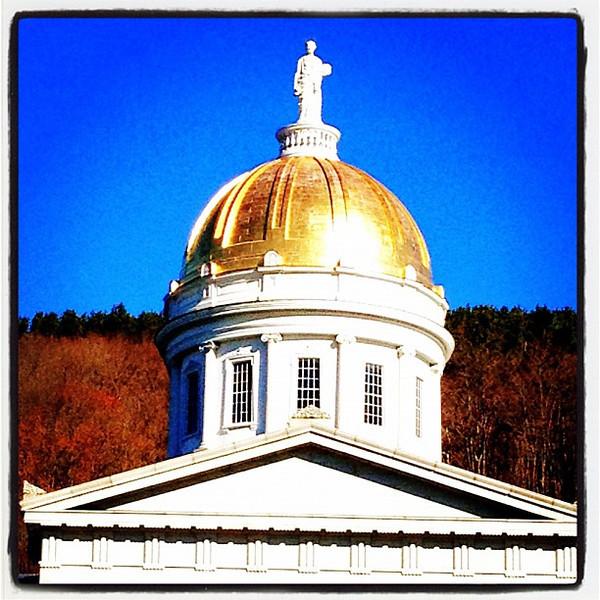 Golden dome. #montpelier #vt #statehouse