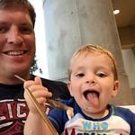 Sharing an ice cream with the birthday boy ☺️ Happy #2 little buddy! via Instagram http://ift.tt/1BxWseg