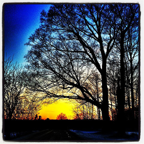Pre-Leap Day Sunset #btv #vt