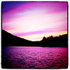 Pink day on the #lake. #sunset #Quebec #pink #sky #landscape