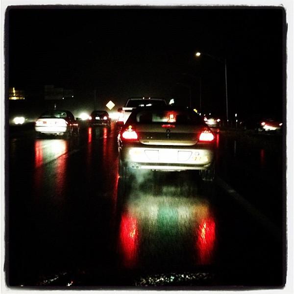 Pitch dark at 5:00PM! #night #btv #vt #I89