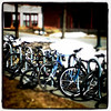 Nothing stops these die-hard bikers. #bikes #bicycles #wheels #btv #VT #UVM #sports