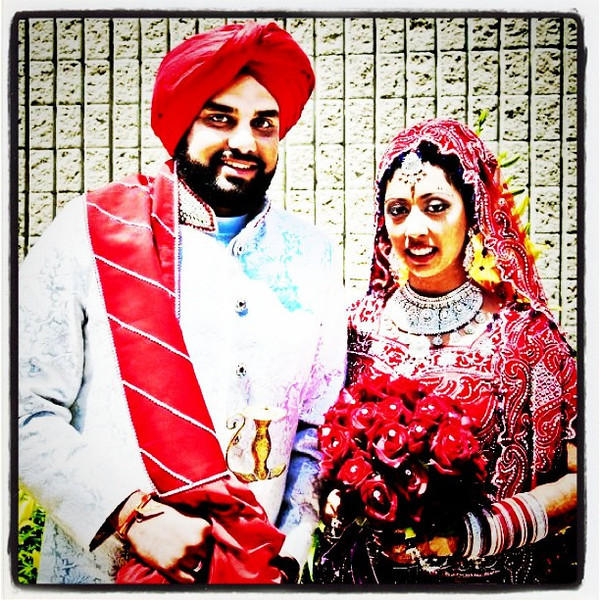 Newly wed Sikh couple.