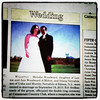 Dileep & Melodie's wedding announcement. My clients' / friends' wedding celebration was posted in yesterday's paper. That's my shot!