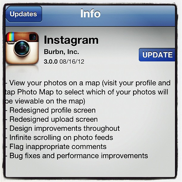 Instagram 3.0.0 is out! Photo Map now included.