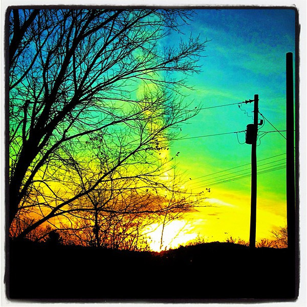 Follow the sun. Beautiful #sunrise. #btv #milton #vt