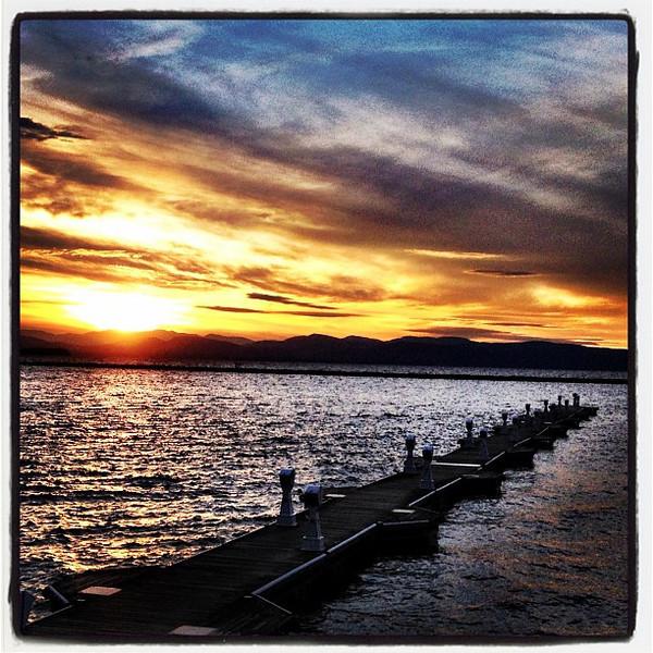 Sunset by the pier. #btv #vt