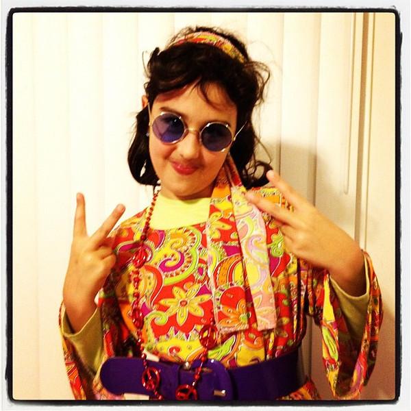 Hippie Girl. Peace! Happy #Halloween!