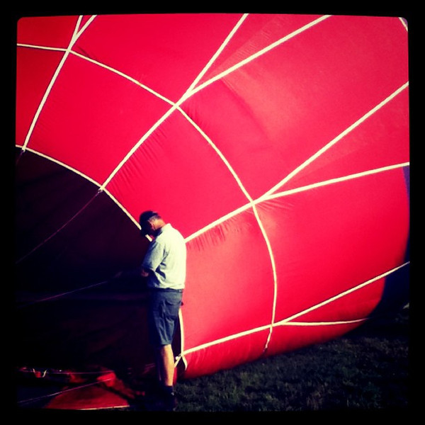 A moment of silence. #hotair #balloon #milton #btv #vt