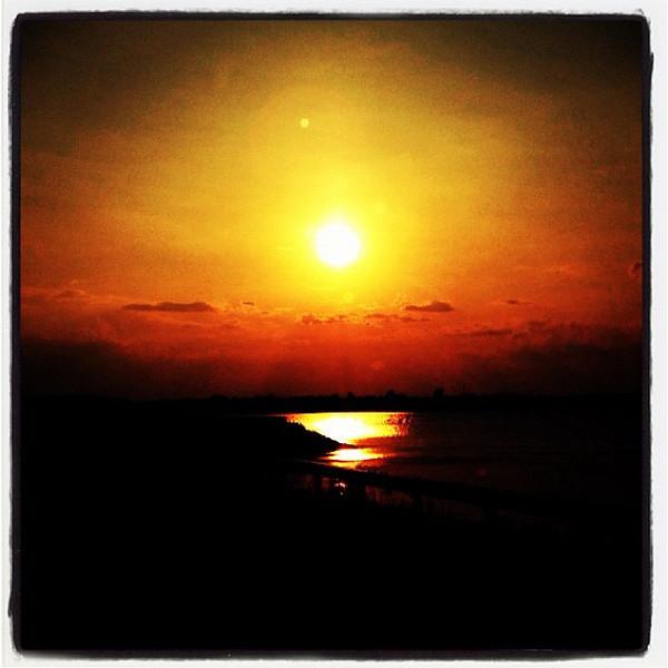 Golden Sunset over Lake Champlain. #btv #vt