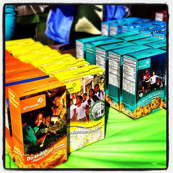 Girl Scout Cookies. #miltonvt