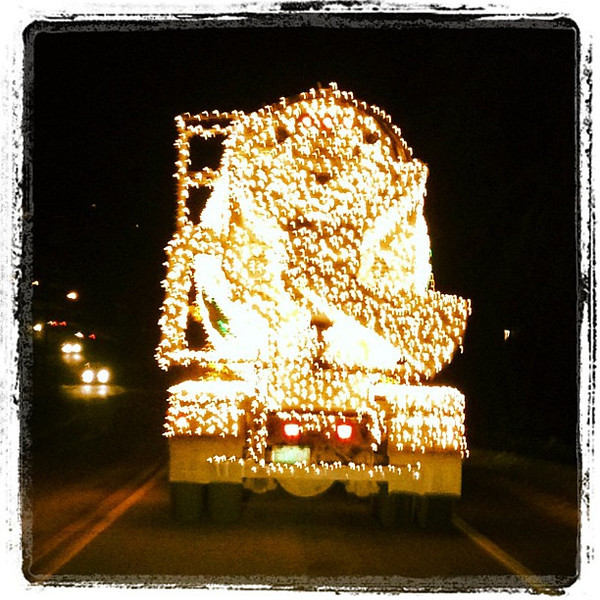 Chasing a lighted cement truck. #btv #milton #vt