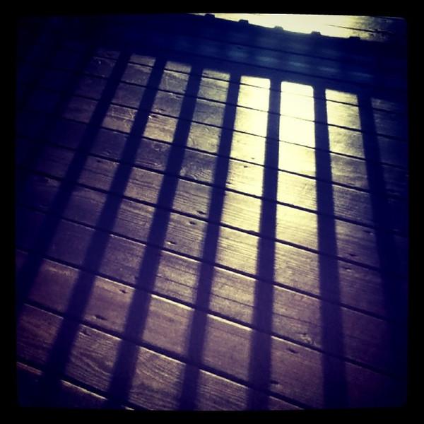 Sun and shadows. #Milton #btv #sunrise #silhouette #abstract