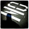 NO! #Silhouette and #sign. #btv #vt #shadow #creative