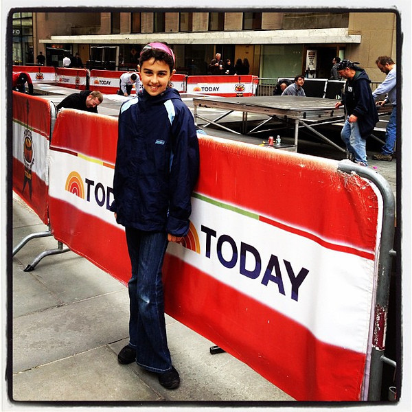 Kid at the Today Show. #nyc #todayshow