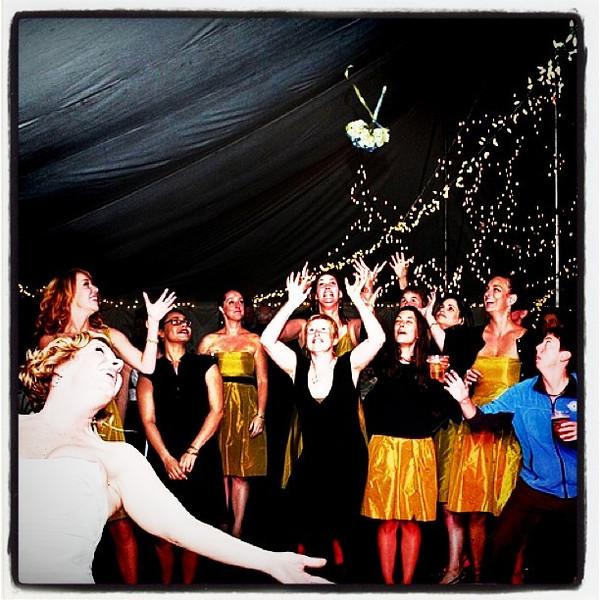 Catch it if you can. #wedding #flowers #bouquet #bride #btv #vt