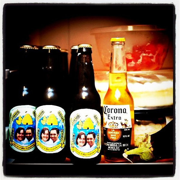 Custom made #beer for a #wedding couple.
