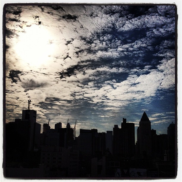 New York City in Silhouette. #nyc