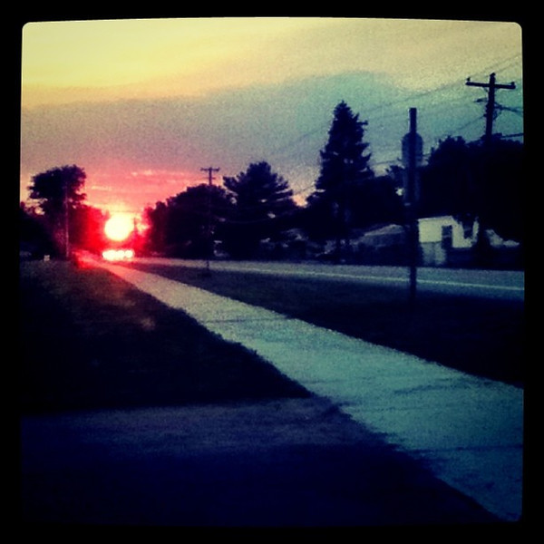 Caught this #sunset at the end of the #road by chance! #btv #Milton