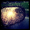 Pouring #rain on side-view #mirror. #btv #vt #weather #abstract