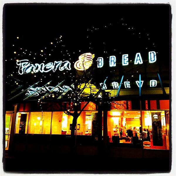 Burlington's Panera Bread at night. #btv #vt